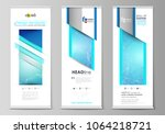 roll up banner stands ... | Shutterstock .eps vector #1064218721