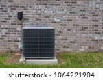 hvac air conditioning unit on... | Shutterstock . vector #1064221904