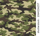 texture military camouflage... | Shutterstock .eps vector #1064226257