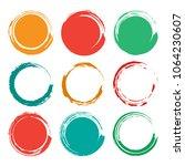 blank empty grunge circle brush ... | Shutterstock .eps vector #1064230607