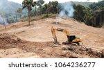 deforestation. environmental... | Shutterstock . vector #1064236277