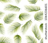 seamless pattern with palm... | Shutterstock .eps vector #1064236601