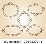 elegant frame.vector... | Shutterstock .eps vector #1064237141