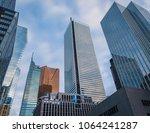 skyscrapers in the financial... | Shutterstock . vector #1064241287