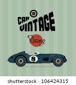 vector vintage sport racing car | Shutterstock .eps vector #106424315