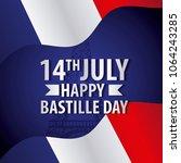 bastille day french celebration | Shutterstock .eps vector #1064243285