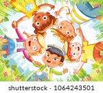 friendship day. below view of... | Shutterstock .eps vector #1064243501