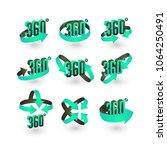 360 degree vector icons set ... | Shutterstock .eps vector #1064250491