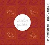 red  orange and maroon... | Shutterstock .eps vector #1064250584
