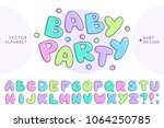 vector baby alphabet  set of... | Shutterstock .eps vector #1064250785
