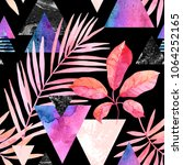 abstract tropical summer design ...   Shutterstock . vector #1064252165