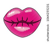 female lips sensuality icon | Shutterstock .eps vector #1064255231