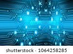 binary circuit board future... | Shutterstock .eps vector #1064258285