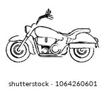 retro motorcycle classic icon | Shutterstock .eps vector #1064260601