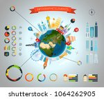 infographic elements template.... | Shutterstock .eps vector #1064262905