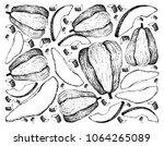 vegetable and fruit ... | Shutterstock .eps vector #1064265089