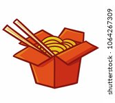 funny and yummy instant noodle... | Shutterstock .eps vector #1064267309