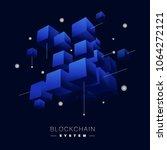 blockchain vector concept  | Shutterstock .eps vector #1064272121