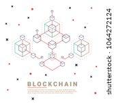 blockchain vector concept    Shutterstock .eps vector #1064272124