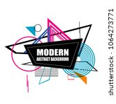 modern abstract pattern... | Shutterstock .eps vector #1064273771