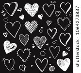 hand drawn set of different... | Shutterstock .eps vector #1064273837
