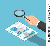 flat 3d isometric businessman... | Shutterstock .eps vector #1064278307