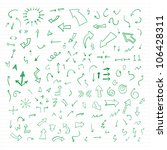vector hand drawn arrows set... | Shutterstock .eps vector #106428311