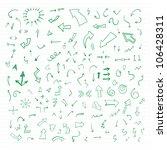 vector hand drawn arrows set... | Shutterstock .eps vector #106428311