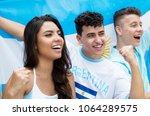 cheering soccer fans from...   Shutterstock . vector #1064289575