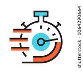 clock icon stopwatch deadline... | Shutterstock .eps vector #1064290664
