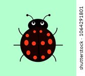 black ladybag with red dots... | Shutterstock .eps vector #1064291801