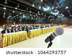 microphone voice speaker with... | Shutterstock . vector #1064293757