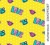 seamless pattern with... | Shutterstock . vector #1064295287