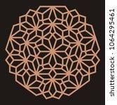 mandala. circular ornament.... | Shutterstock .eps vector #1064295461