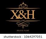 x h initial logo  ampersand...   Shutterstock .eps vector #1064297051