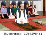 a vector illustration of... | Shutterstock .eps vector #1064298461