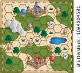 board game of the medieval... | Shutterstock .eps vector #1064304581