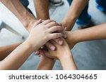 team work concept. business... | Shutterstock . vector #1064304665