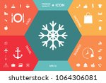 snowflake icon symbol | Shutterstock .eps vector #1064306081