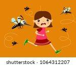 children running out of...   Shutterstock .eps vector #1064312207
