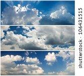 Set Of Panoramic Sky