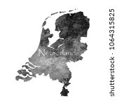 ancient map of netherlands. old ... | Shutterstock .eps vector #1064315825