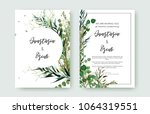 wedding invitation frame set ... | Shutterstock .eps vector #1064319551