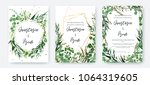 wedding invitation frame set ... | Shutterstock .eps vector #1064319605