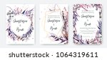 wedding invitation frame set ... | Shutterstock .eps vector #1064319611