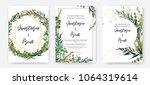 wedding invitation frame set ... | Shutterstock .eps vector #1064319614