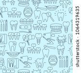 dental seamless pattern with... | Shutterstock .eps vector #1064319635