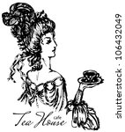 vintage lady engraving | Shutterstock .eps vector #106432049