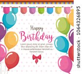 happy birthday balloons air... | Shutterstock .eps vector #1064326895