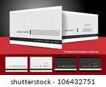professional business cards set
